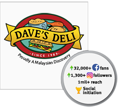 dave's deli malaysia social media management agency