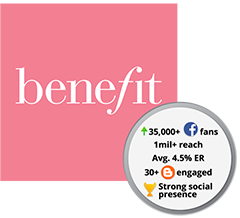 benefit cosmetics malaysia social media agency
